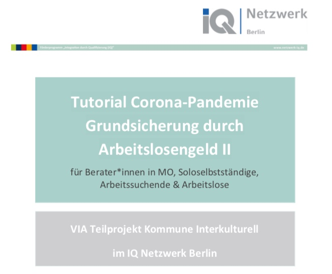 Tutorial Grundsicherung durch ALG II